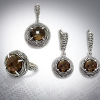 Evangelina - Quarz Incrusted Silver Set
